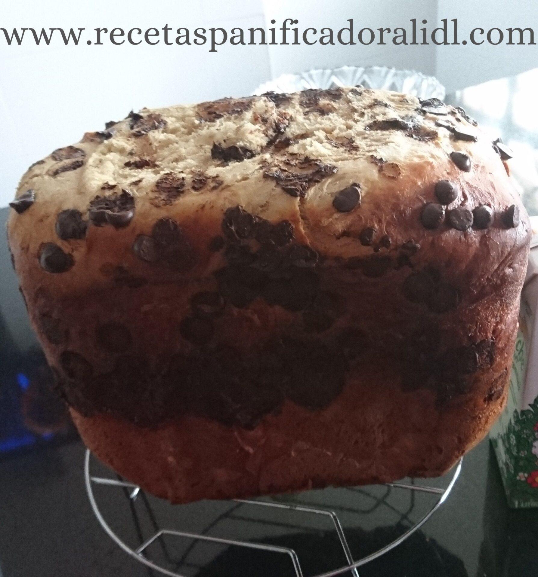 receta sencilla para hacer un brioche con pepitas de chocolate en la panificadora del lidl Silvercrest