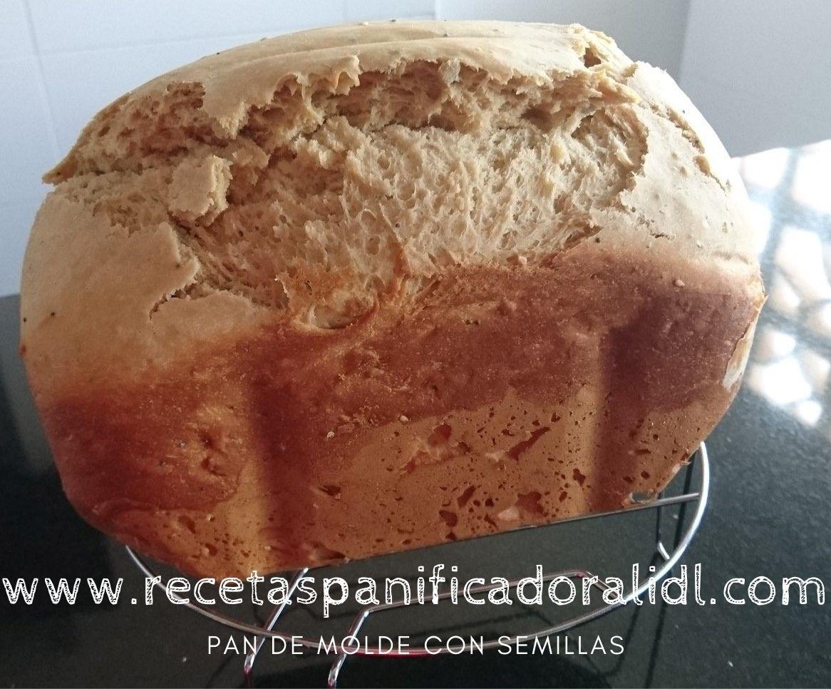 receta sencillas para hacer pan de molde con semillas en la panificadora del Lidl Silvercrest