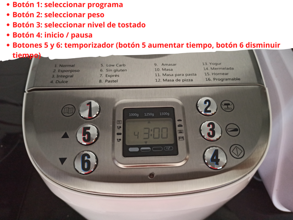 Cómo programar la panificadora Silvercrest, explicación sencilla de cómo usar la panificadora del Lidl