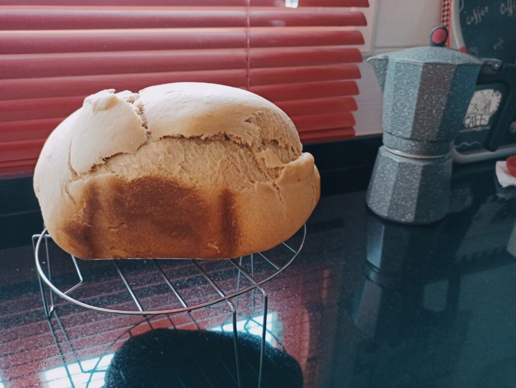 Pan de molde con skyr en la panificadora del Lidl, Silvercrest