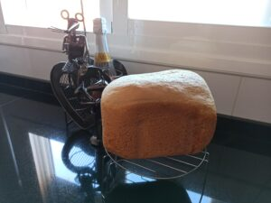 Pan con zumo de naranja en panificadora Silvercrest, la panificadora del Lidl